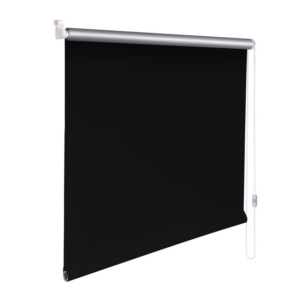 mini rollo klemmfix alu thermo klemmrollo verdunkelung h he 230 cm schwarz ebay. Black Bedroom Furniture Sets. Home Design Ideas
