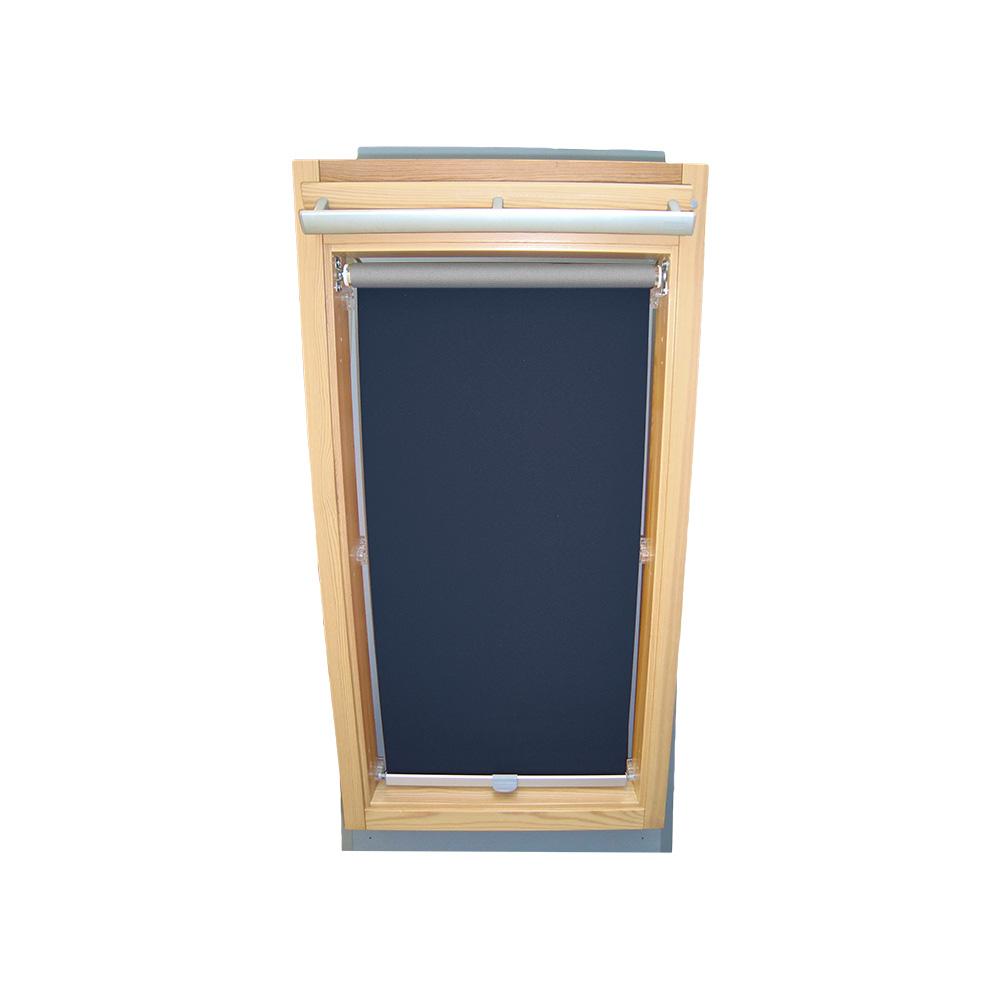 abdunkelungsrollo alu thermo f r fakro dachfenster ftp ptp fpp dunkelblau ebay. Black Bedroom Furniture Sets. Home Design Ideas