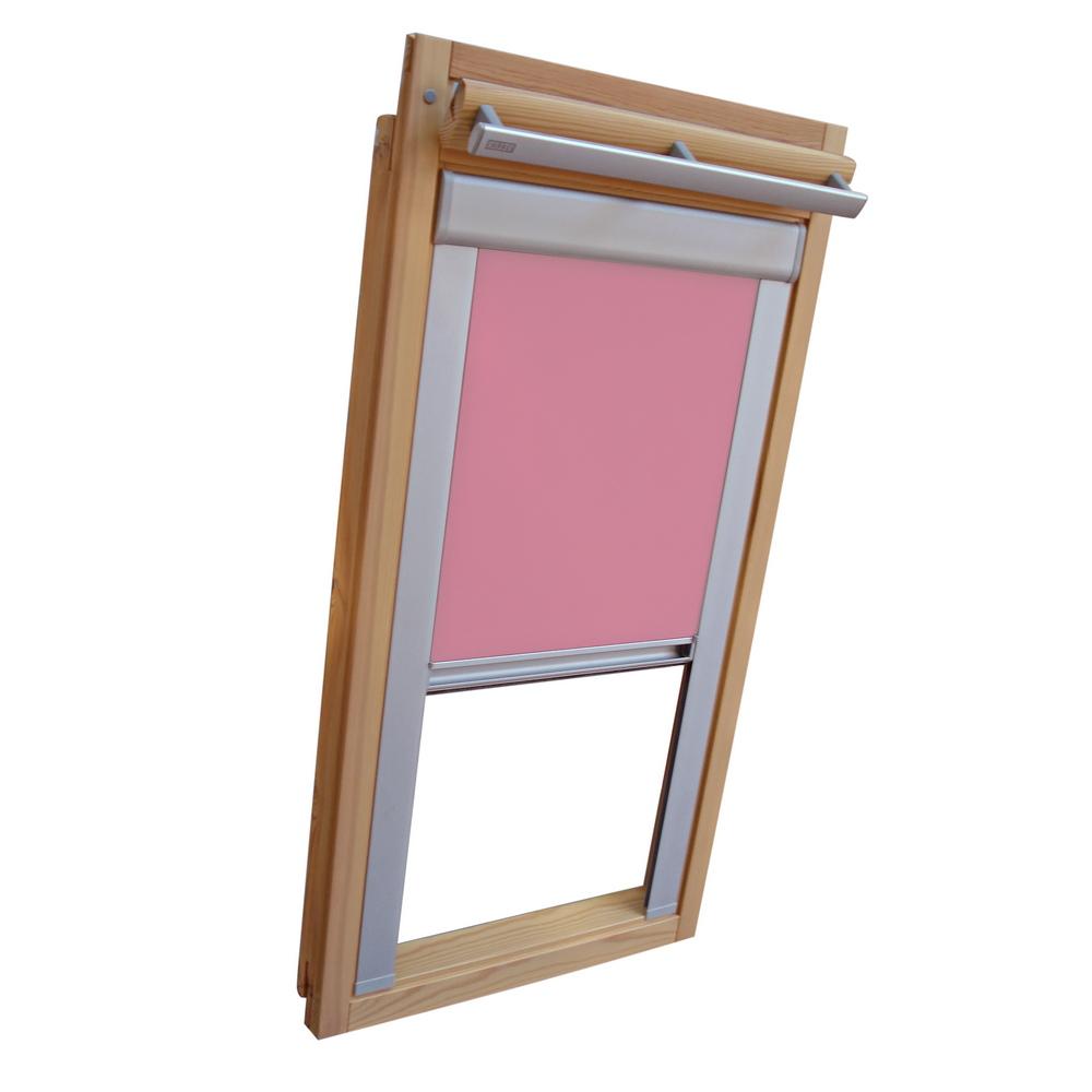 sichtschutzrollo mit schienen f r blefa dachfenster bl bsk rosa ebay. Black Bedroom Furniture Sets. Home Design Ideas
