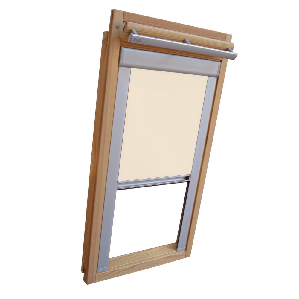 sichtschutzrollo mit schienen f r velux dachfenster ggu gpu ghu creme ebay. Black Bedroom Furniture Sets. Home Design Ideas