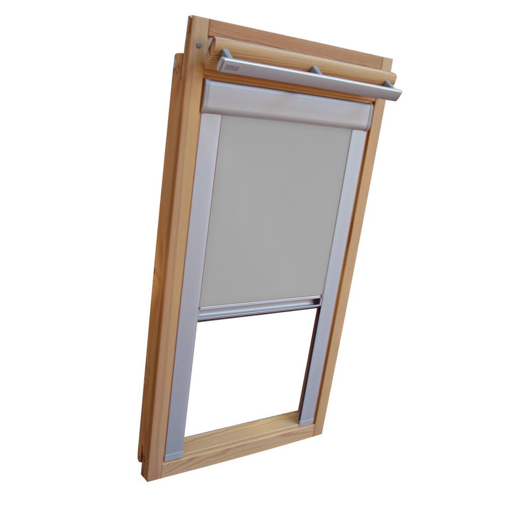 dachfensterrollo verdunkelung f r velux dachfenster vl vf vt grau ebay. Black Bedroom Furniture Sets. Home Design Ideas
