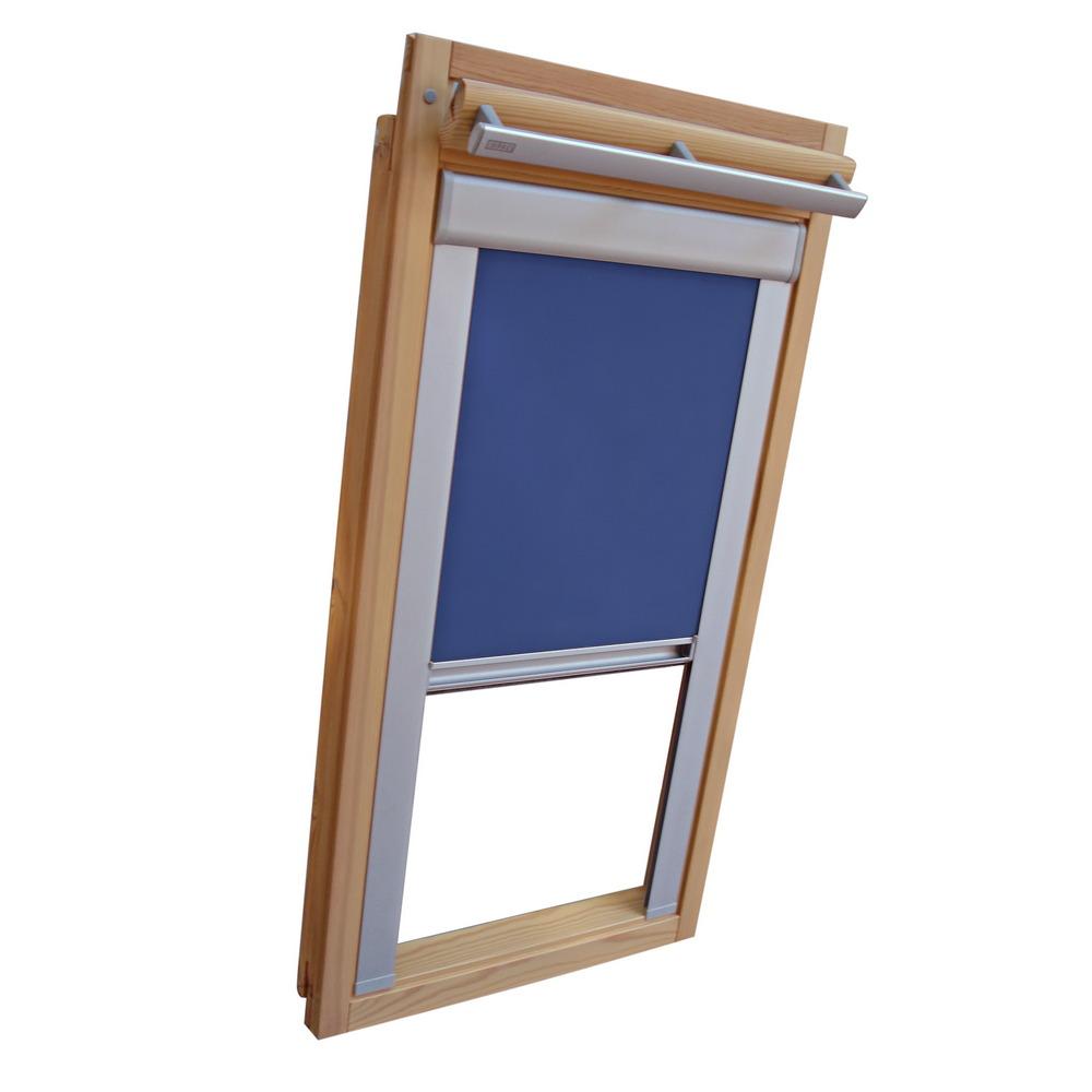 dachfensterrollo verdunkelung f r velux dachfenster vl vf vt mittelblau ebay. Black Bedroom Furniture Sets. Home Design Ideas