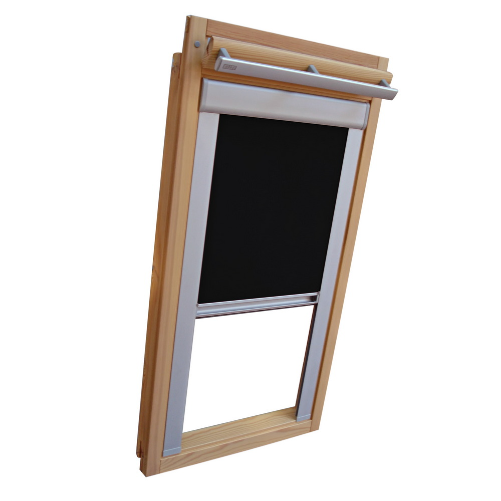 dachfensterrollo verdunkelung f r velux dachfenster ggl gpl ghl schwarz ebay. Black Bedroom Furniture Sets. Home Design Ideas