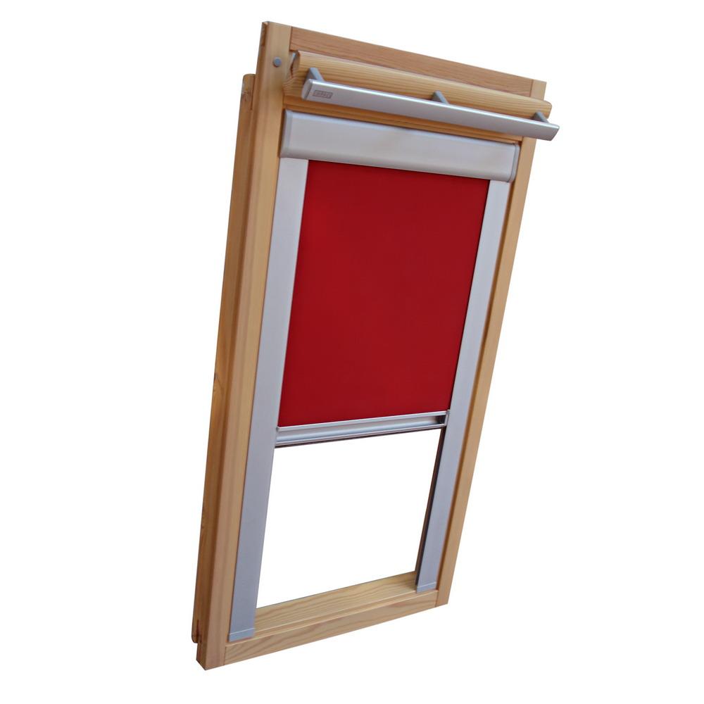 sichtschutzrollo mit schienen f r velux dachfenster vl vf vt weinrot ebay. Black Bedroom Furniture Sets. Home Design Ideas