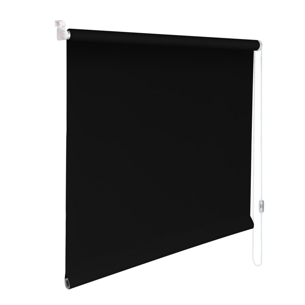 mini rollo klemmfix klemmrollo easyfix sichtschutz h he 200 cm schwarz ebay. Black Bedroom Furniture Sets. Home Design Ideas