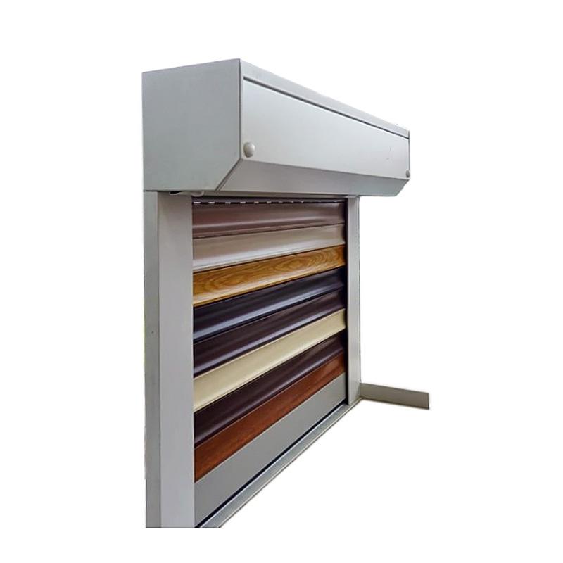 aluminium rolladen mit gurtzug von innen gesehen rechts kasten schienen weiss ebay. Black Bedroom Furniture Sets. Home Design Ideas