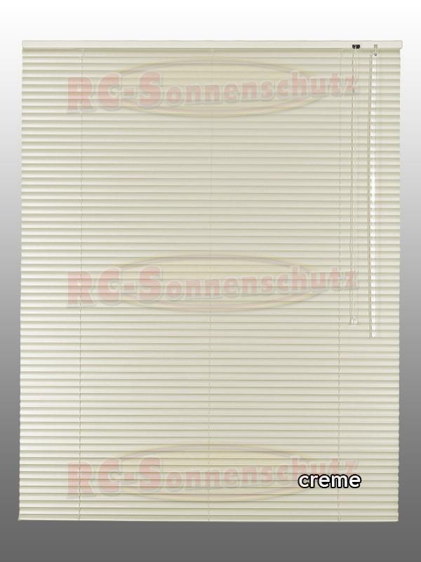 Alu-Aluminium Jalousie Rollo Jalousette 140 x 175 cm / 140x175 cm Farbe creme