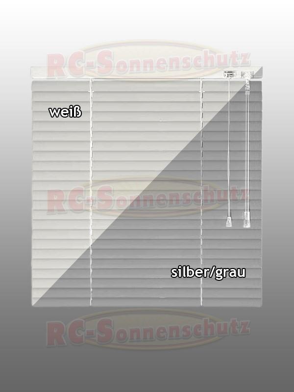 Alu-Aluminium Jalousie Jalousette in Farbe weiss oder silber 130 cm Höhe