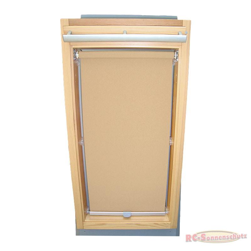 Sichtschutzrollo Rollo für Braas Holz Typ BK+BL 100/110 beige-karamell