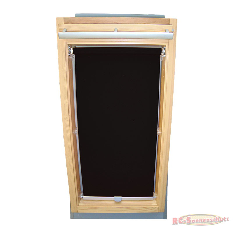 Sichtschutzrollo Rollo für FAKRO Gr.01 FTP PTP 55/78 schwarz