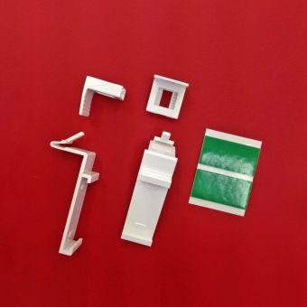 Klemmträger verstellbar 15-23 mm für Klemmfix DUO Rollos Doppelrollo ohne Bohren