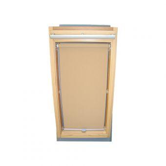 Dachfensterrollo Sichtschutz für Velux Dachfenster GGL/GPL/GHL - beige-karamell