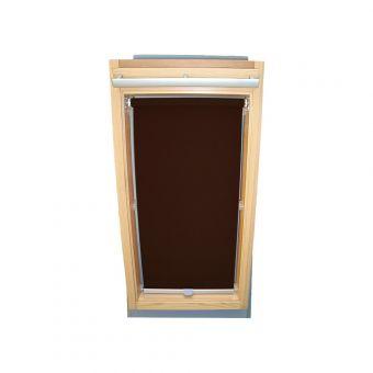 Dachfensterrollo Sichtschutz für Velux Dachfenster GGL/GPL/GHL - dunkelbraun