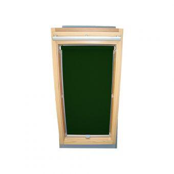 Dachfensterrollo Sichtschutz für Velux Dachfenster GGL/GPL/GHL - dunkelgrün