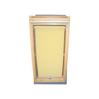 Dachfensterrollo Sichtschutz für Velux Dachfenster GGL/GPL/GHL - hellgelb-creme