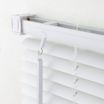 PVC Kunststoff Jalousie Farbe weiß Rollo Plissee Klemmträger ohne bohren möglich