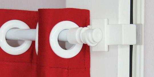 6 Stück Klemmhalter Vario Klemmträger ohne Bohren für Cafehaus Gardinenstange