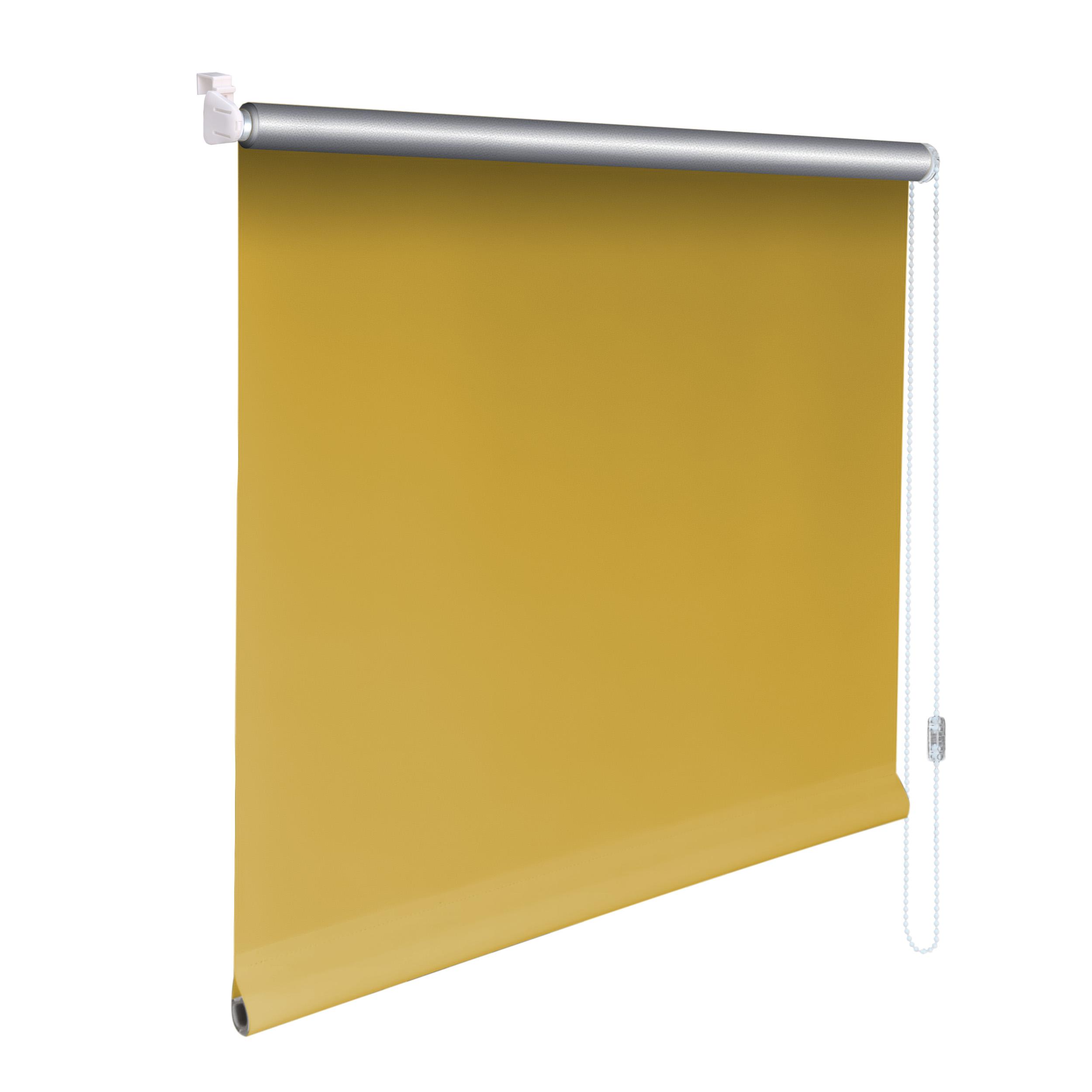 Höhe 90 cm gelb Mini-Rollo Klemmfix ALU THERMO Klemmrollo Verdunkelung