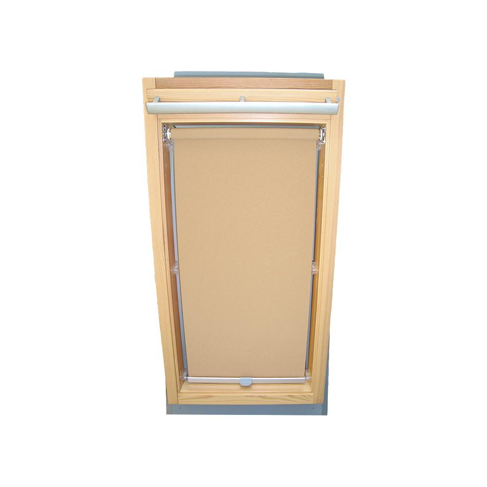 rc rollo shop dachfensterrollo sichtschutz f r velux dachfenster ggl gpl ghl beige karamell. Black Bedroom Furniture Sets. Home Design Ideas