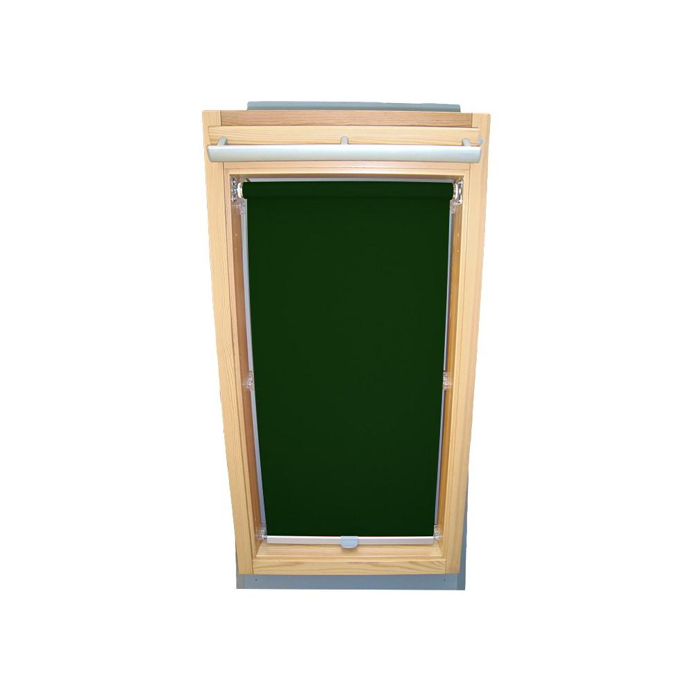 rc rollo shop dachfensterrollo sichtschutz f r velux dachfenster ggu gpu ghu dunkelgr n. Black Bedroom Furniture Sets. Home Design Ideas