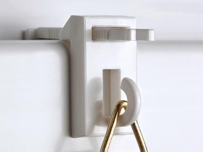 klemmtr ger f r bambusrollo rollo klemmhalter faltrollo fensterrollo ohne bohren ebay. Black Bedroom Furniture Sets. Home Design Ideas